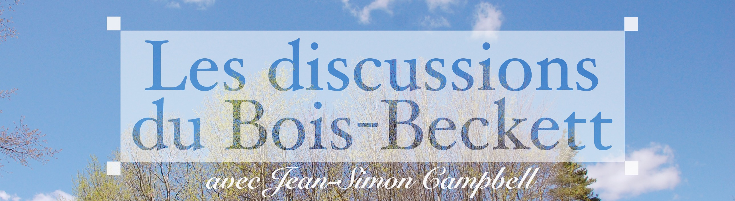 Discussion du bois Beckett